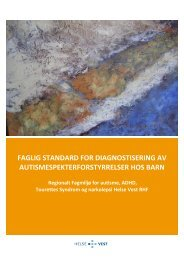 FAGLIG STANDARD FOR DIAGNOSTISERING AV ... - Helse Bergen