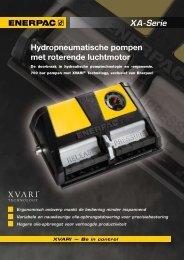 XA-Serie Hydropneumatische pompen met roterende ... - Enerpac