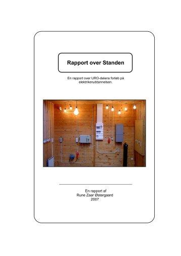 Rapport over Standen (pdf-dokument) 995 kb - El