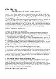 De ti teser fra kirken om velstand, velfærd og ansvar