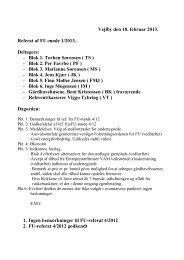 Vejlby den 18. februar 2013. Referat af FU-møde 1 ... - Kantorparken