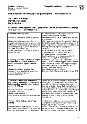 Institutionernes konkrete projektplanlægning ... - Buddinge Skole
