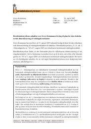 Udtalelse fra Beredskabsstyrelsen dateret 26 ... - Greve Kommune
