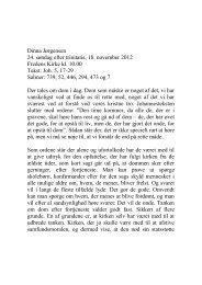 Dinna Jørgensen 24. søndag efter trinitatis, 18. november 2012 ...