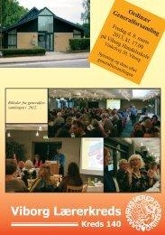 Viborg Lærerkreds Kreds 140 Ordinær Generalforsamling