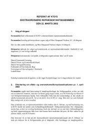 Referat af KTO's ekstraordinære repræsentantskabsmøde den 22 ...
