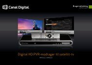 Digital HD PVR-modtager til satellit-tv - Av-Montering