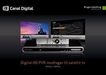 Digital HD PVR-modtager til satellit-tv - Av-Montering