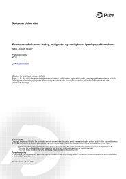 P dagoguddannelsens bidrag 2 Kompetencediskursens indtog v ...