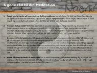 6 gode råd til din Meditation - Naemi