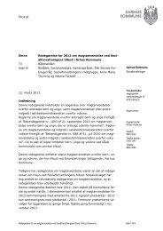 Redegørelse om magtanvendelse 2012 - Aarhus.dk