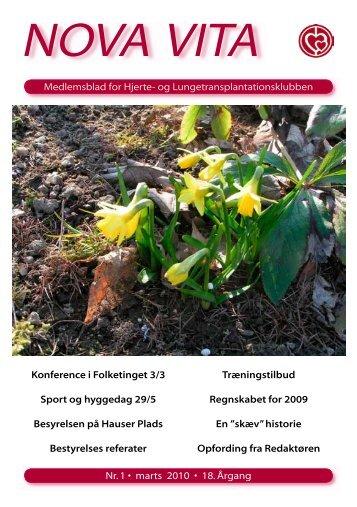 Nova Vita 2010-1 - Hjerte- og Lungetransplantationsklubben