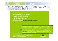 Lev Livet - PLHO - For Praktiserende læger i Holstebro Kommune