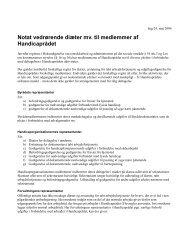 Notat om diæter mv. til Handicaprådets medlemmer - Greve Kommune