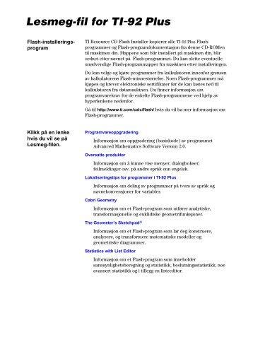 Lesmeg-fil for TI.92 Plus