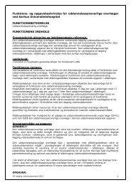 Uddannelsesansvarlig overlæge (UAO) - Aarhus Universitetshospital