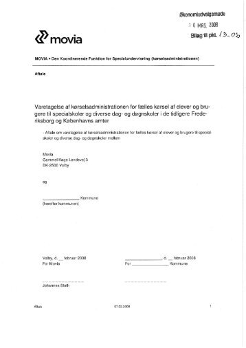 Standardkontrakt for administration og udbud af kørselskontrakter