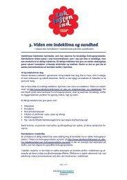 3. Viden om indeklima og sundhed - Miljøstyrelsen