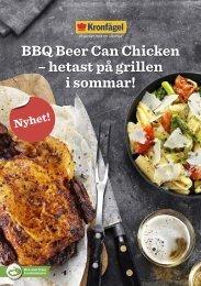 BBQ Beer Can Chicken – hetast på grillen i sommar! - Kronfågel