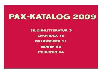 Last ned katalogen som pdf - Pax Forlag