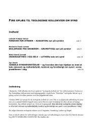Fire oplæg om synd - Haderslev Stift