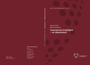 Transnationell brottslighet – ett säkerhetshot? - Central Asia ...