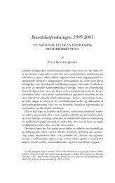 Besættelsesforskningen 1995-2001 - Historisk Tidsskrift