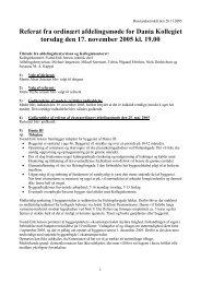 Referat fra ordinært afdelingsmøde for Dania Kollegiet torsdag den ...