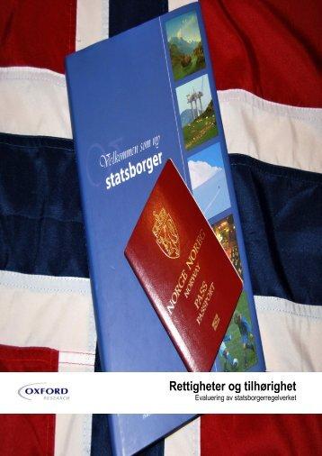 Evaluering av statsborgerregelverket.pdf - EUDO Citizenship