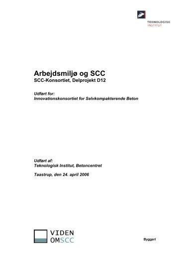 Arbejdsmiljø og SCC - SCC-konsortiet