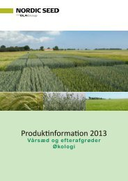 Produktinformation 2013 - NSCORN