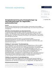 20101217 Teknisk vejledning om stregkoder .17 dec 2010 - Amgros
