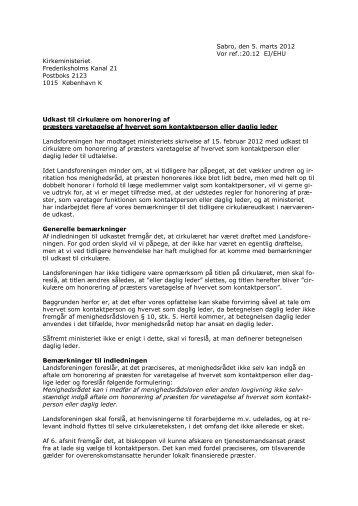 Læs høringssvaret her - Landsforeningen af Menighedsråd