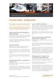 Finansloven 2013 - endelig aftale - Beierholm