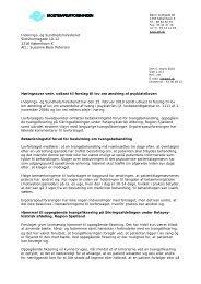 Høringssvar vedr. ændring af psykiatrilov mar 10
