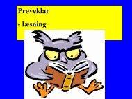 Læsning og sprogbrug
