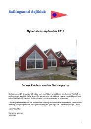 Nyhedsbrev september 2012 - Sallingsund Sejlklub