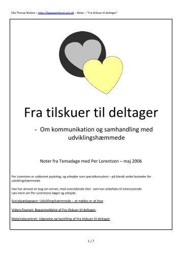 Fra tilskuer til deltager - Ulla Thorup Nielsen