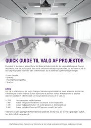QUICK GUIDE TIL VALG AF PROJEKTOR - DS-DISPLAY A/S