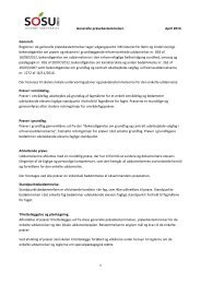 Generelle prøvebestemmelser. April 2013. 1 Generelt ... - SOSU Nord