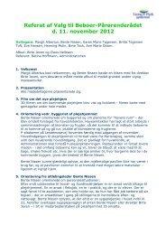 Referat af Valg til Beboer-Pårørenderådet d. 11. november 2012