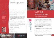 arvefolder - Caritas Danmark