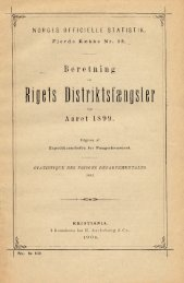 Beretning om Rigets Distriktsfængsler for Aaret 1899