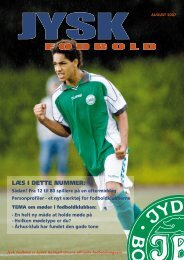 for jysk fodbold - DBU Jylland