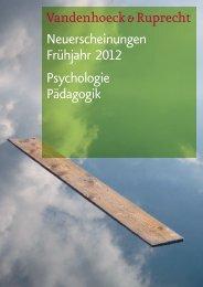 Neuerscheinungen Frühjahr 2012 Psychologie Pädagogik