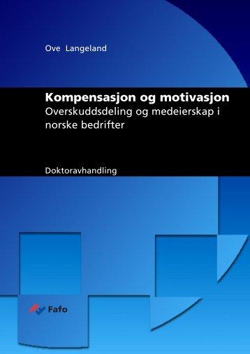 Overskuddsdeling og medeierskap i norske bedrifter - Fafo