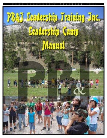 Camp Staff Manual - PB and J Leadership Training, Inc