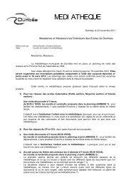 Programme 2012 - Province sud