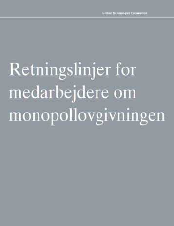 Retningslinjer for medarbejdere om monopollovgivningen - United ...