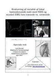 Evaluering af variable af lokal hæmodynamik målt med NIRS og ...